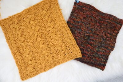 Braided Cables Square Knitter Knotter Blanket CAL 2021 by Miroslava Mihalkova from Exquisite Crochet UK