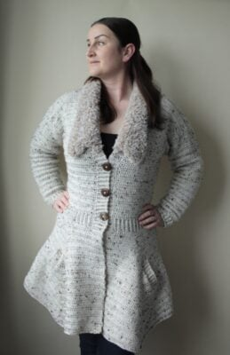 Spring Crochet Coatigan Pattern by Veronika Cromwell from Blue Star Crochet