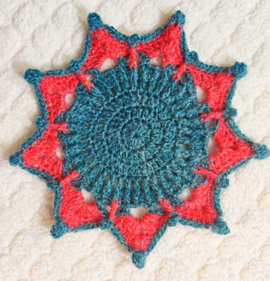 Star Doily Placemat by rajiscrafthobby