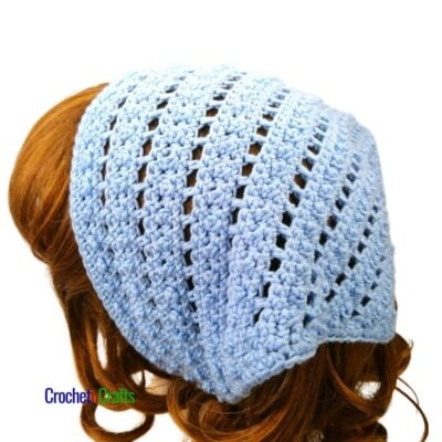 Bead and Lace Crochet Kerchief by CrochetnCrafts
