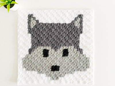 c2c Wolf by Melissa Hassler from Lovable Loops