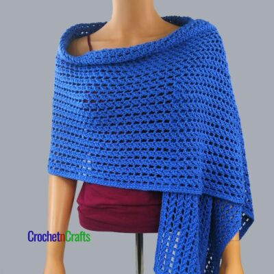 Rectangular Shawl Crochet Pattern by CrochetnCrafts
