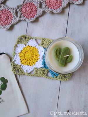 Lily's Floral Mug Rug by Alexandra of EyeLoveKnots
