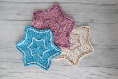 Blessed Three Star Coaster by Miroslava Mihalkova from Exquisite Crochet UK