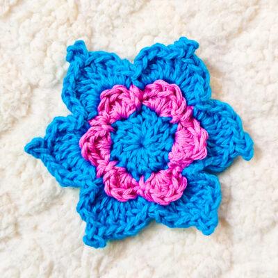 Layered Crochet Flower by rajiscrafthobby