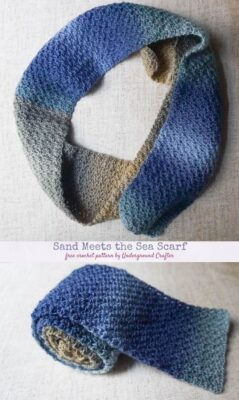 Sand Meets the Sea Scarf by Marie Segares/Underground Crafter