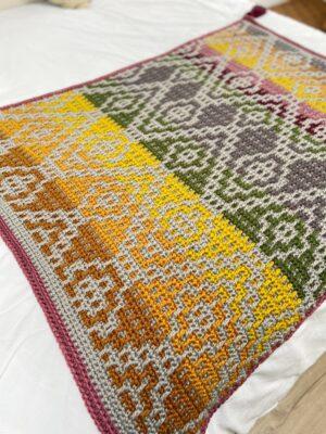 Wanderers Mosaic Blanket by Hannah Cross from HanJan Crochet