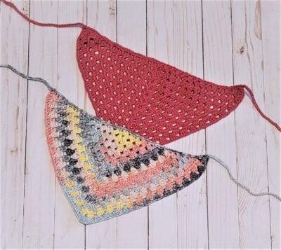 Granny Triangle Bandana by Lisa Ferrel/My Fingers Fly