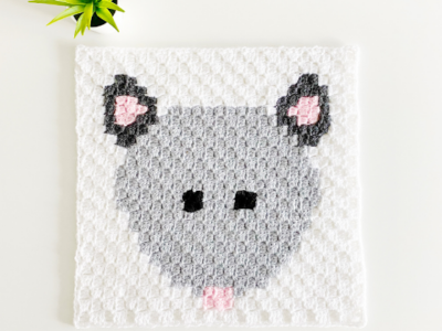 c2c Opossum by Melissa Hassler from Lovable Loops