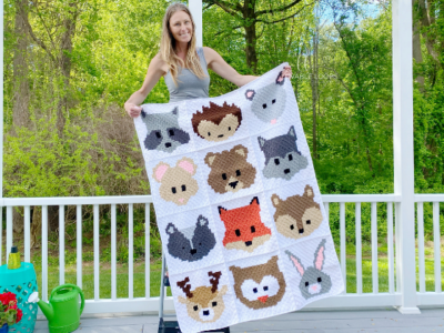 Woodland Animals Baby Blanket by Melissa Hassler from Lovable Loops