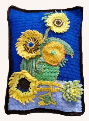 Van Gogh's Sunflowers in Crochet by Lisa Ferrel/My Fingers Fly