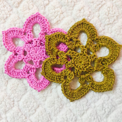 Fresh Crochet Flower Motif by rajiscrafthobby