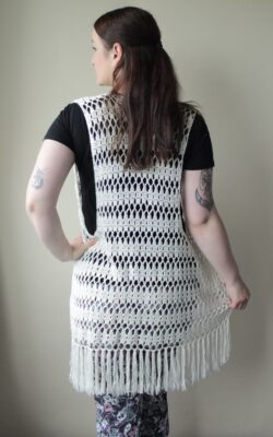 Boho Beach Crochet Vest by Veronika Cromwell from Blue Star Crochet