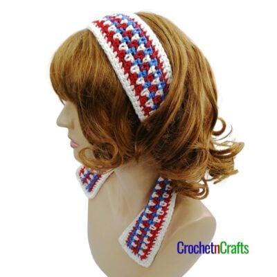 Striped Crochet Headband Pattern by CrochetnCrafts