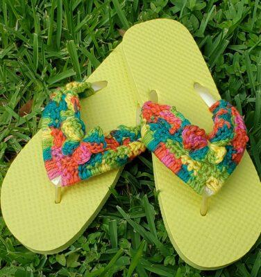 Butterfly Flip-flops by Lisa Ferrel/My Fingers Fly