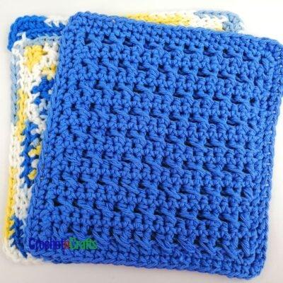 HDC Criss-Cross Stitch Dishcloth by CrochetnCrafts