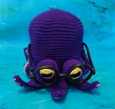 Octopus Eyeglass Holder by Lisa Ferrel/My Fingers Fly
