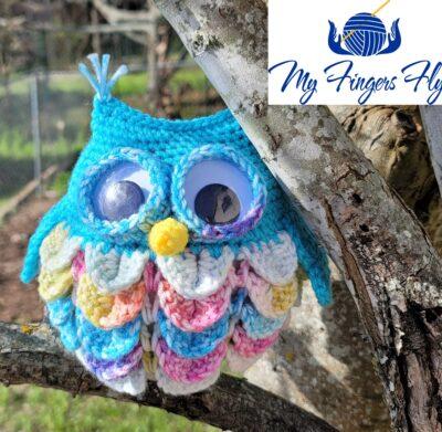 Owl Eyeglass Holder by Lisa Ferrel/My Fingers Fly