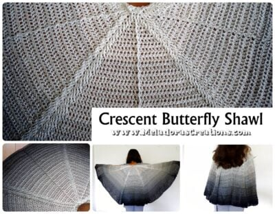 Crescent Butterfly Shawl by Candy Lifshes from Meladora's Creations.