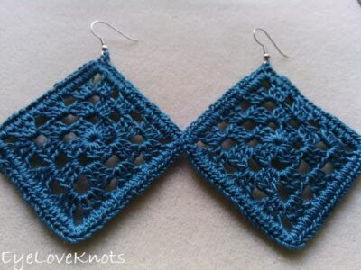 Laceweight Gia Earrings by Alexandra of EyeLoveKnots