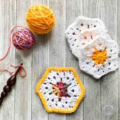 How to Crochet a Granny Hexagon by RaeLynn Endicott - Itchin' for some Stitchin'