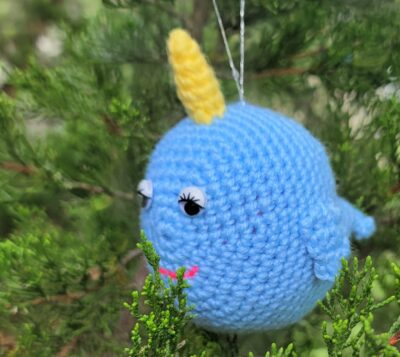 Narwhal Ornament by Lisa Ferrel/My Fingers Fly