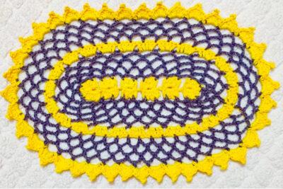 Crochet Oval Lace Doily by rajiscrafthobby