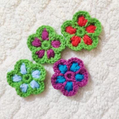 Puff Stitch Crochet Flower Pattern by rajiscrafthobby