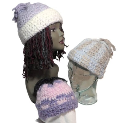 Fluffy Hat by Jessie Rayot, owner of Jessie At Home.
