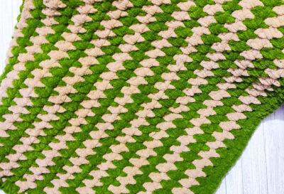 Snuggly Crochet Baby Blanket with Moss Stitch by rajiscrafthobby.