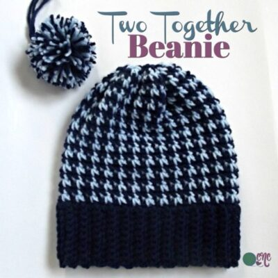 Two Together - Two Color Beanie by CrochetnCrafts