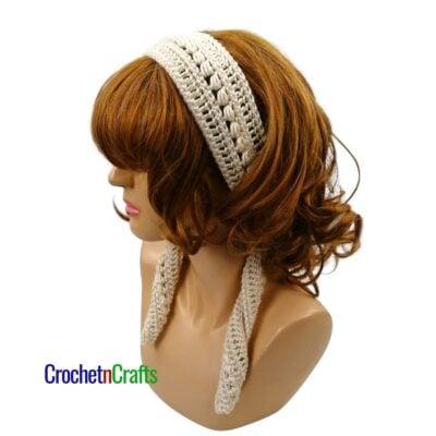 Slanted Cluster Crochet Headband Pattern by Crochetncrafts