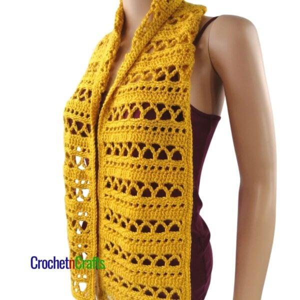 Lacy Waves - Fall Crochet Scarf by CrochetnCrafts