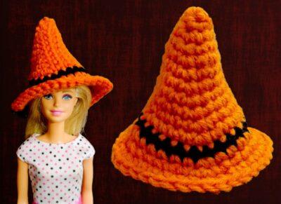 Halloween Mini Crochet Witch Hat by rajiscrafthobby.