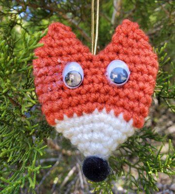 Fox Ornament by Lisa Ferrel/My Fingers Fly.
