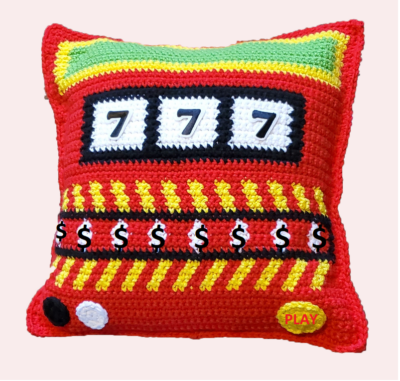 Slot Machine Pillow by Lisa Ferrel/My Fingers Fly.