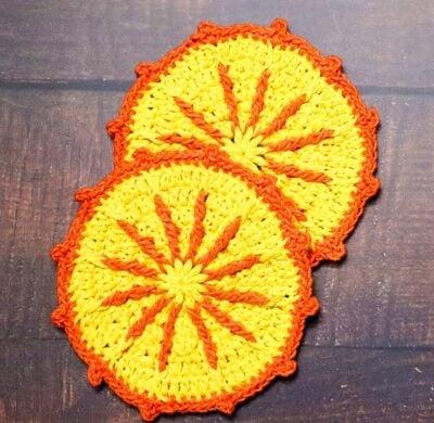Sunshine Crochet Coasters Easy Crochet Tutorial by rajiscrafthobby.