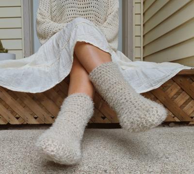 Crochet Slipper Socks by Wannipa Yunker from KnitcroAddict